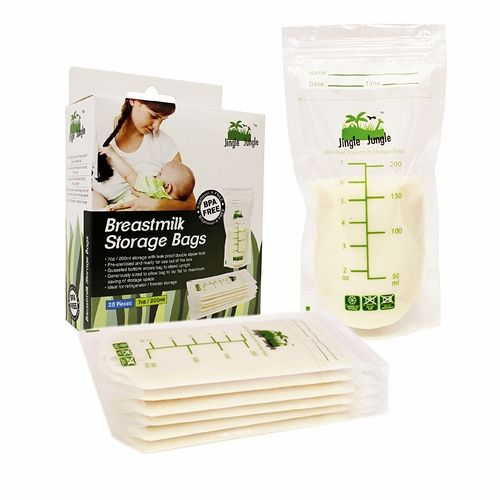 Jingle Jungle Breastmilk Storage Bag (7oz) (25 Pieces)