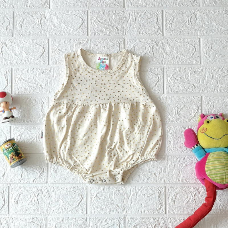 Super Sun Gold Star Baby  Romper