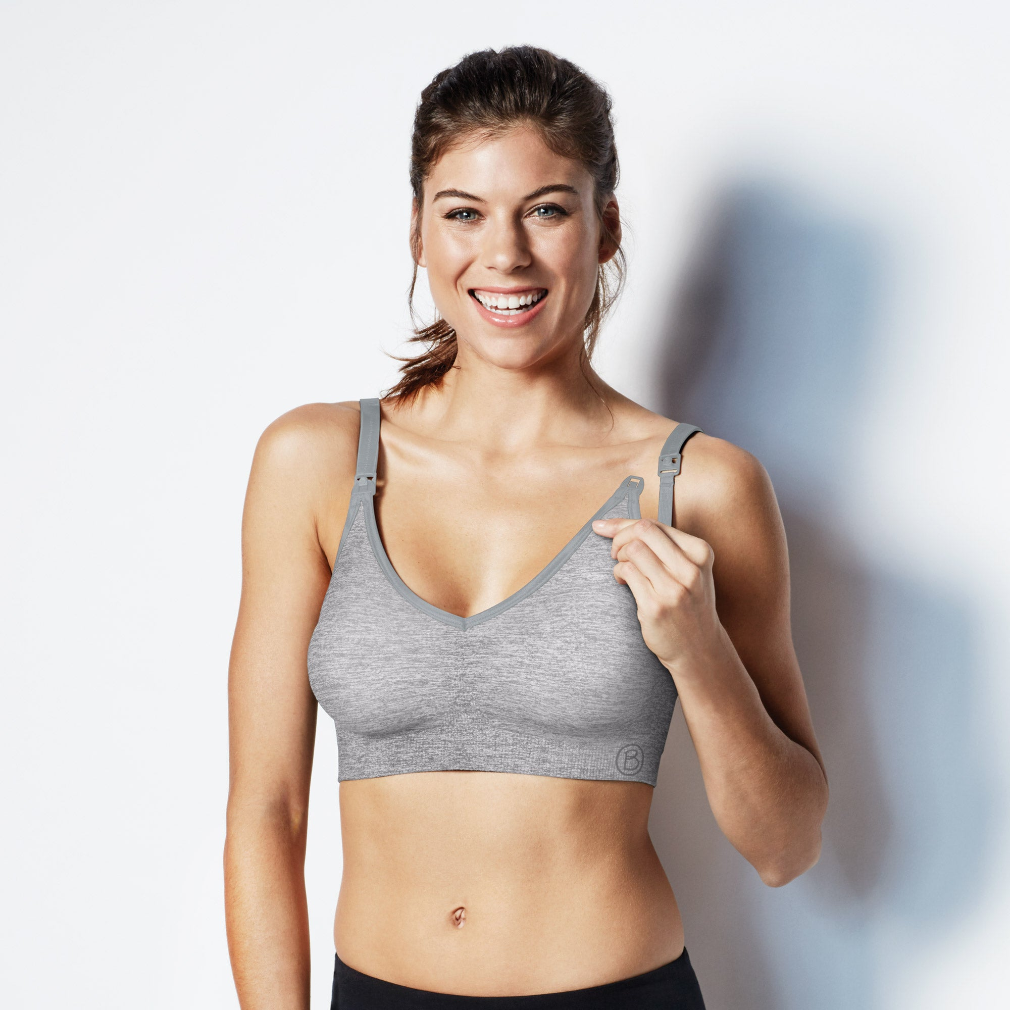 Bravado Body Silk Seamless Yoga Nursing Bra (Dove Heather)