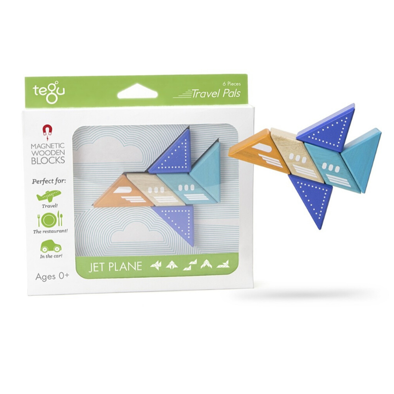 Tegu Magnetic Jet Plane Travel Pal