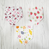 Toddler Cotton Triangle With Button Bib [Boy/Girl]