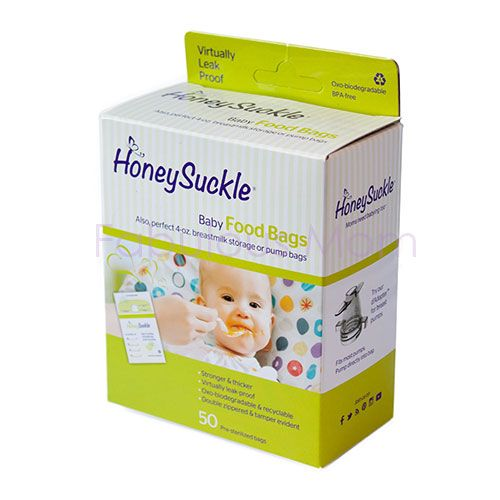 Honeysuckle Baby Food Bags / Small Milk & Pump Bags (4oz)