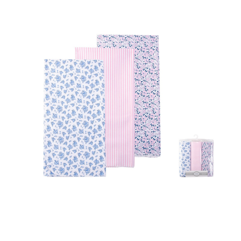 Luvable Friends Receiving Blanket 3pk [Assorted Design]