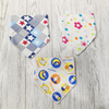[2 - 8 Nov] Toddler Cotton Triangle With Button Bib [Boy/Girl] [Limit to 5pcs per order]