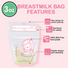 Sunmum Breastmilk Storage Bags (3oz) (30 Pieces)