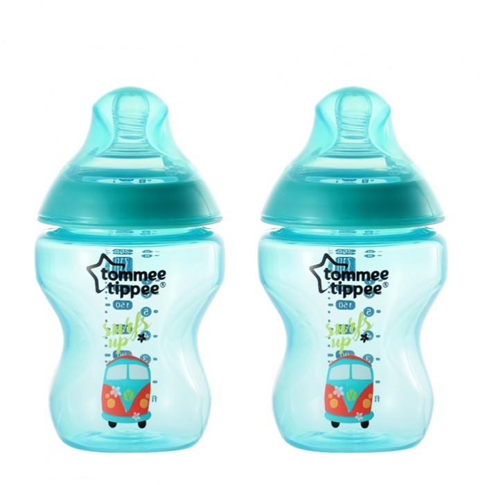 Tommee Tippee Closure To Nature 260ml Tinted PP Bottle (Jade Green- 2pcs)