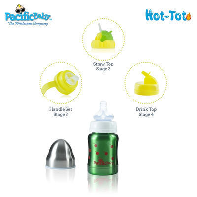 Pacific Baby Hot-Tot Insulated Baby Bottle 4oz/120ml Design (Assorted)