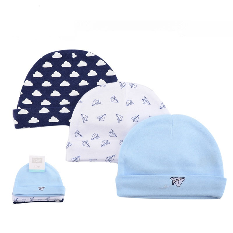 Luvable Friends 3pc New Born Baby Caps (Assorted)
