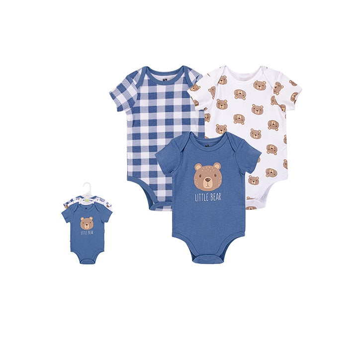 Luvable Friends Bodysuit 3pk (Little Bear)
