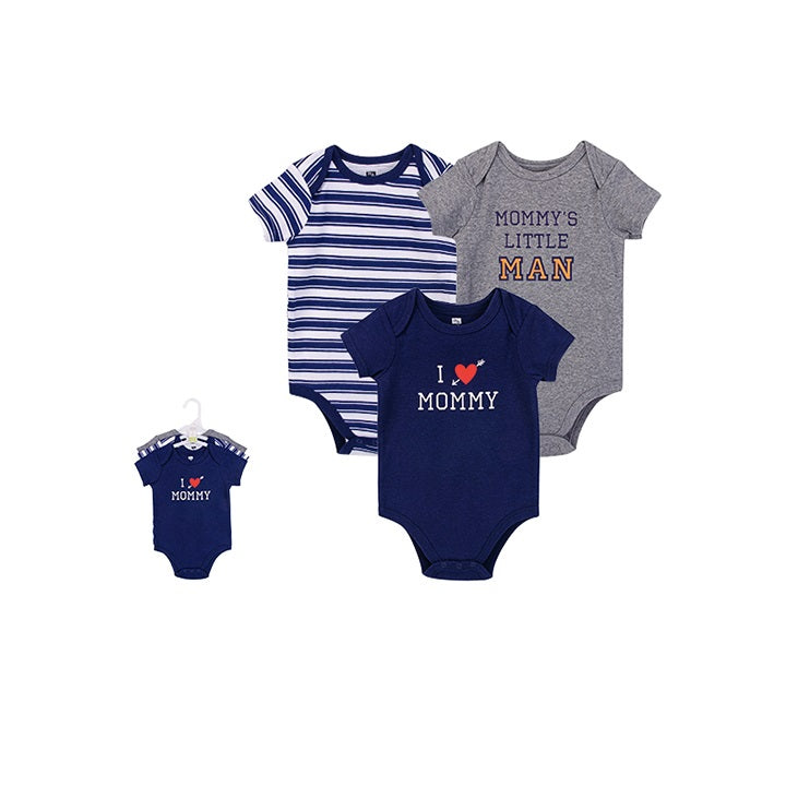 Luvable Friends Bodysuit 3pk (I Love Mommy)
