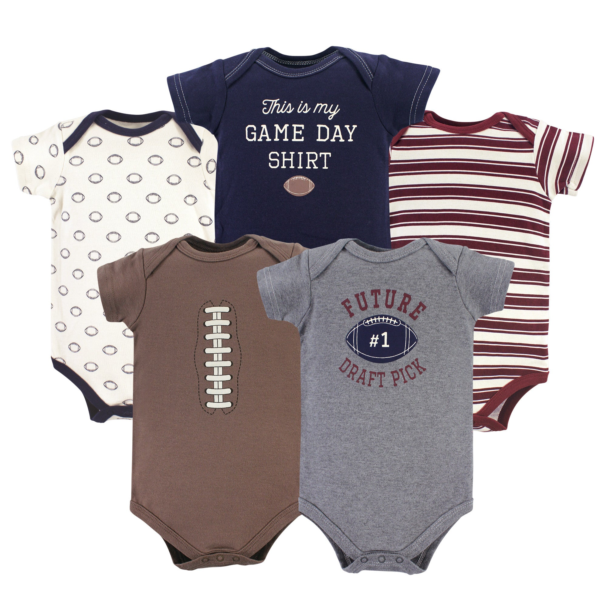 Luvable Friends Bodysuit 5pk (This Is My Game Day Shirt)