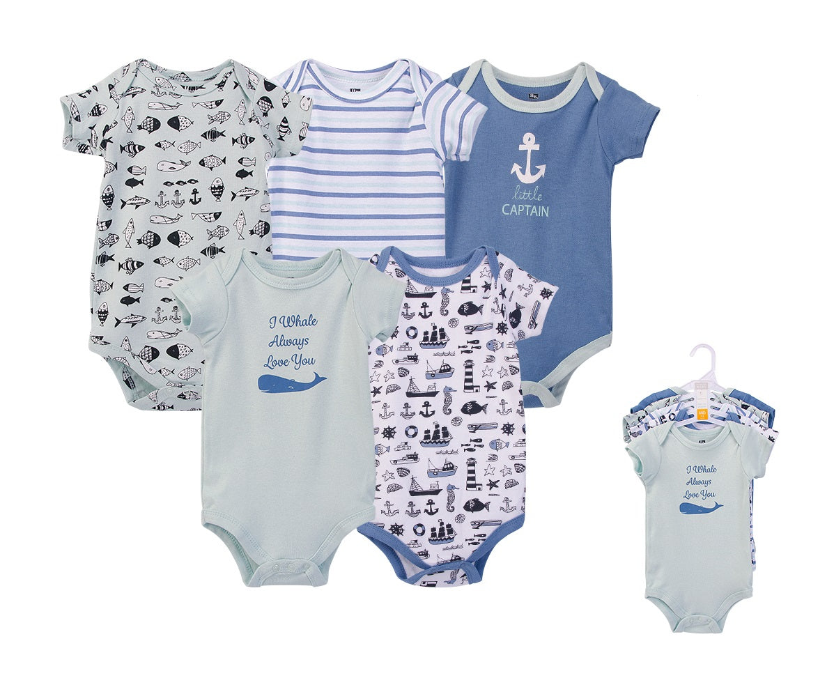 Luvable Friends Bodysuit 5pk (I Whale Always Love You)