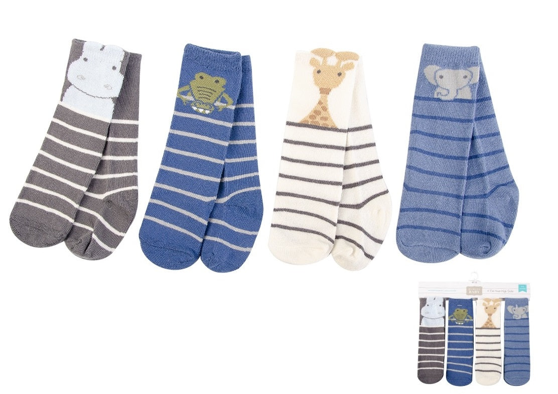 Luvable Friends 4pc Baby High Socks (54145)