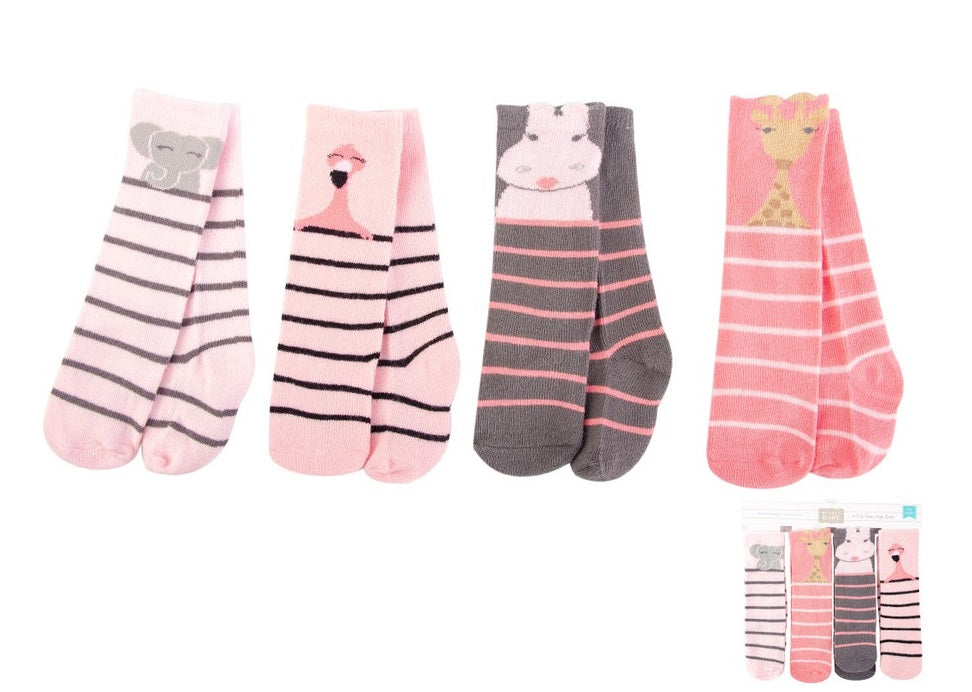 Luvable Friends 4pc Baby High Socks (54151)