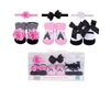 Luvable Friends 3pcs Baby Socks + 3pcs Headband Gift Set (Paris)