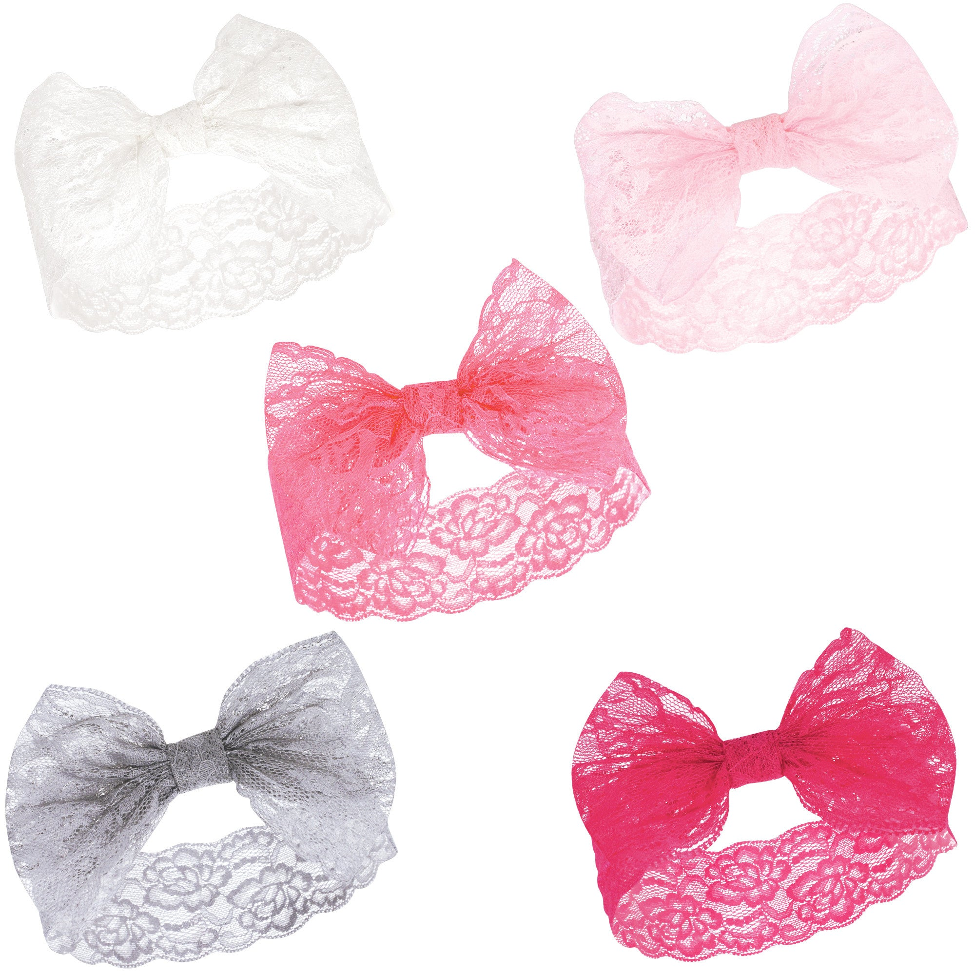 Luvable Friends 5pk Headband Lace Set (Assorted)
