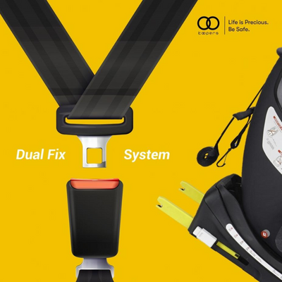 Koopers Ruvafix Dual Fix System Car Seat Isofix (Black) [6 Years Warranty]