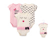 Luvable Friends Bodysuit 3pk (Bows Before Bros)