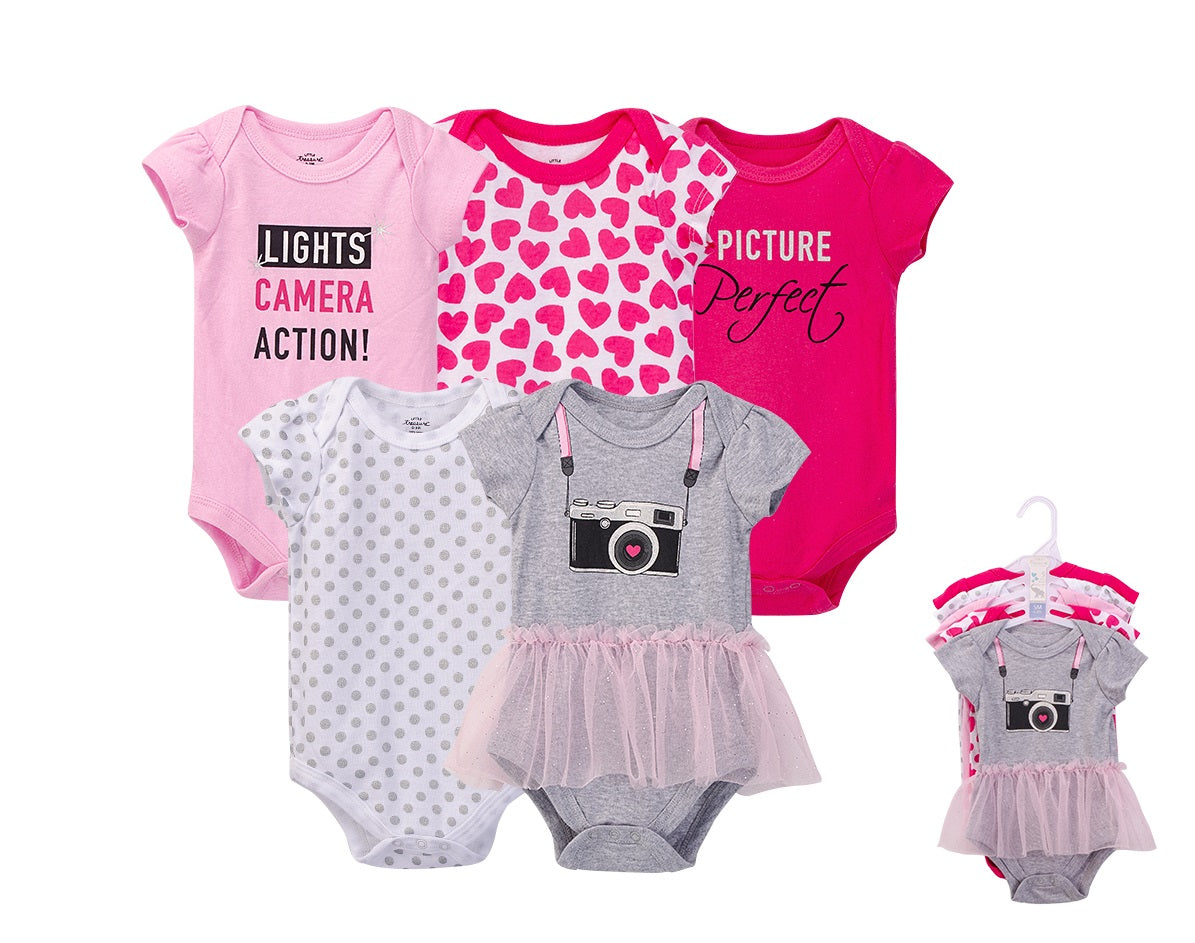 Luvable Friends Bodysuit 5pk (Lights Camera Action!)