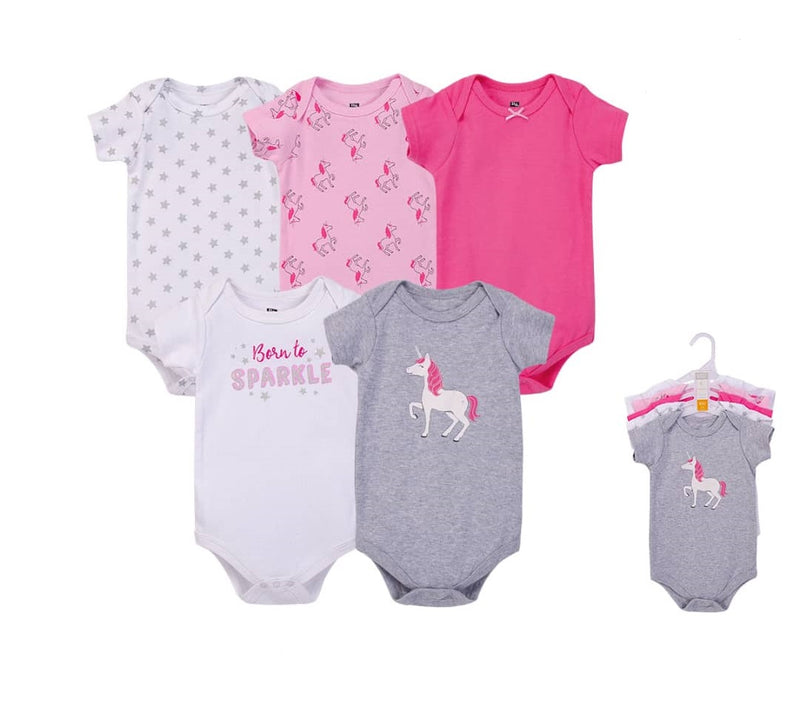 Luvable Friends Bodysuit 5pk (Born To Sparkle)