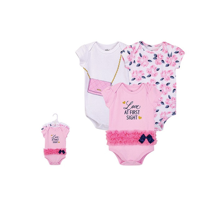 Luvable Friends Bodysuit 3pk (Love at First Sight)