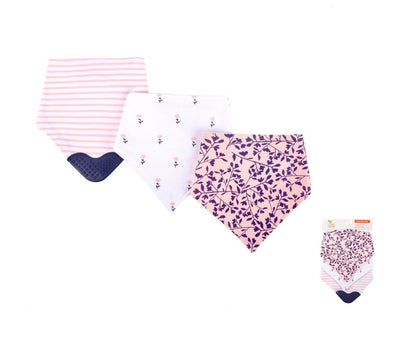 Luvable Friends 3pk Bandana Bibs With Teether (Assorted)