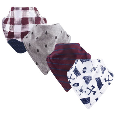 Luvable Friends 4pk Bandana Bibs With Teether (Assorted)