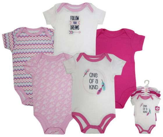 Luvable Friends Bodysuit 5pk (Wild One)