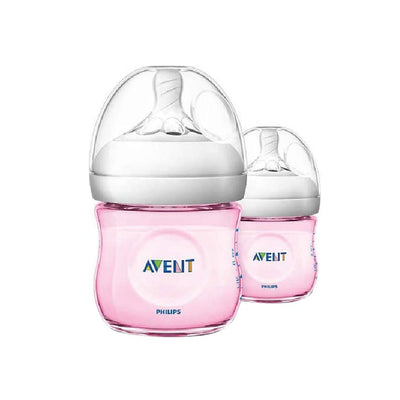 Philips Avent Natural Baby Bottle 125ml (Pink) Twin Pack