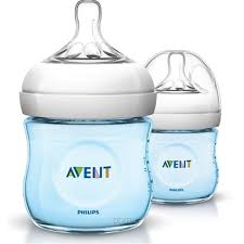 Philips Avent Natural Baby Bottle 125ml (Blue) Twin Pack