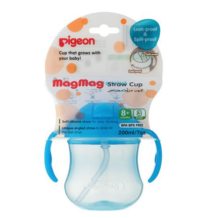 Pigeon Mag Straw Cup Step3 [200ml] (Assorted)