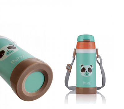 Relax Thermal Flask With Straw 360ML (Assorted)
