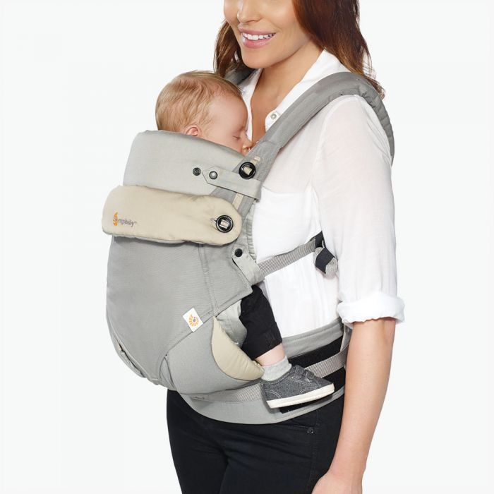 Ergo Baby Carrier 360 Bundle Of Joy (Grey) + FREE Chewie Pad