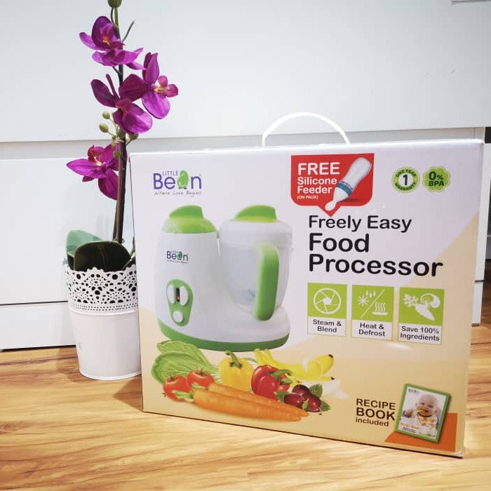 [Promo Code: FM4.4] Little Bean Freely Food Processor + FREE Silicone Feeder