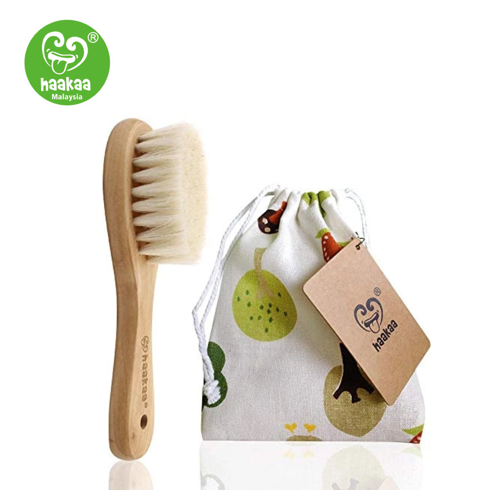 Haaka Goats Wool Wooden Baby Hairbrush