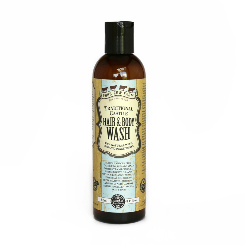 Four Cow Farm Traditional Castile Hair & Body Wash (250ml)