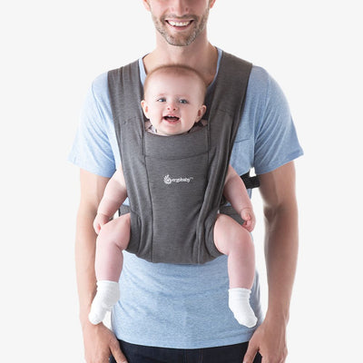 Ergobaby Embrace Cozy Newborn Carrier  (Heather Grey) + Free Baby Wipes 30s