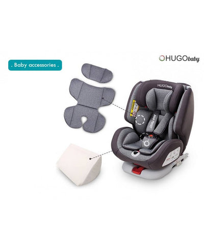 Hugo Baby 360 Twist Car Seat (Red) + RM20 Fuel Card [6 Year Warranty]