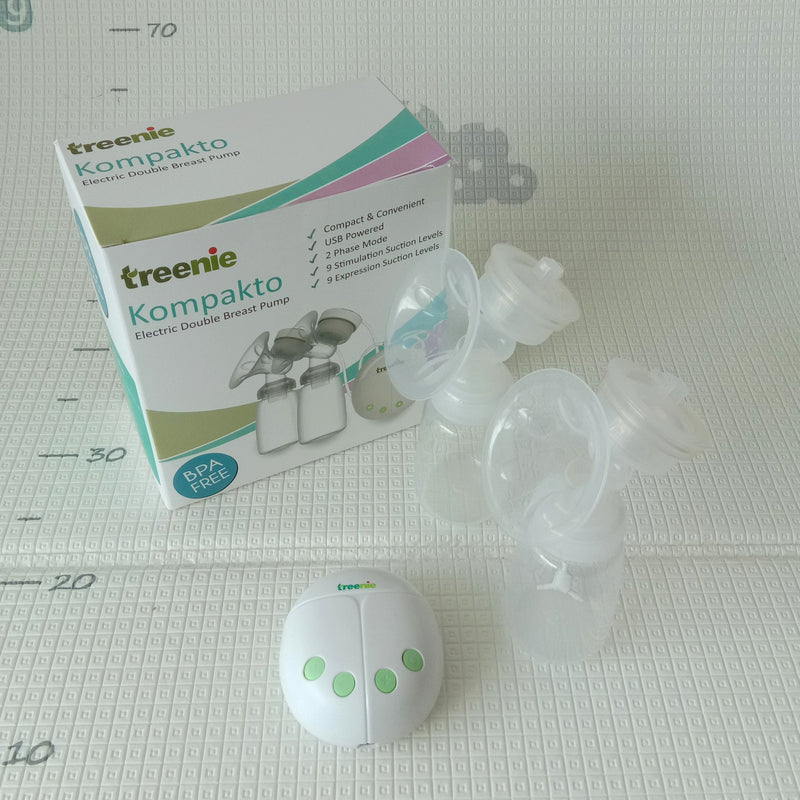 Treenie Kompakto Electric Double Breast Pump + Free Gifts + [1 Years Service Warranty]