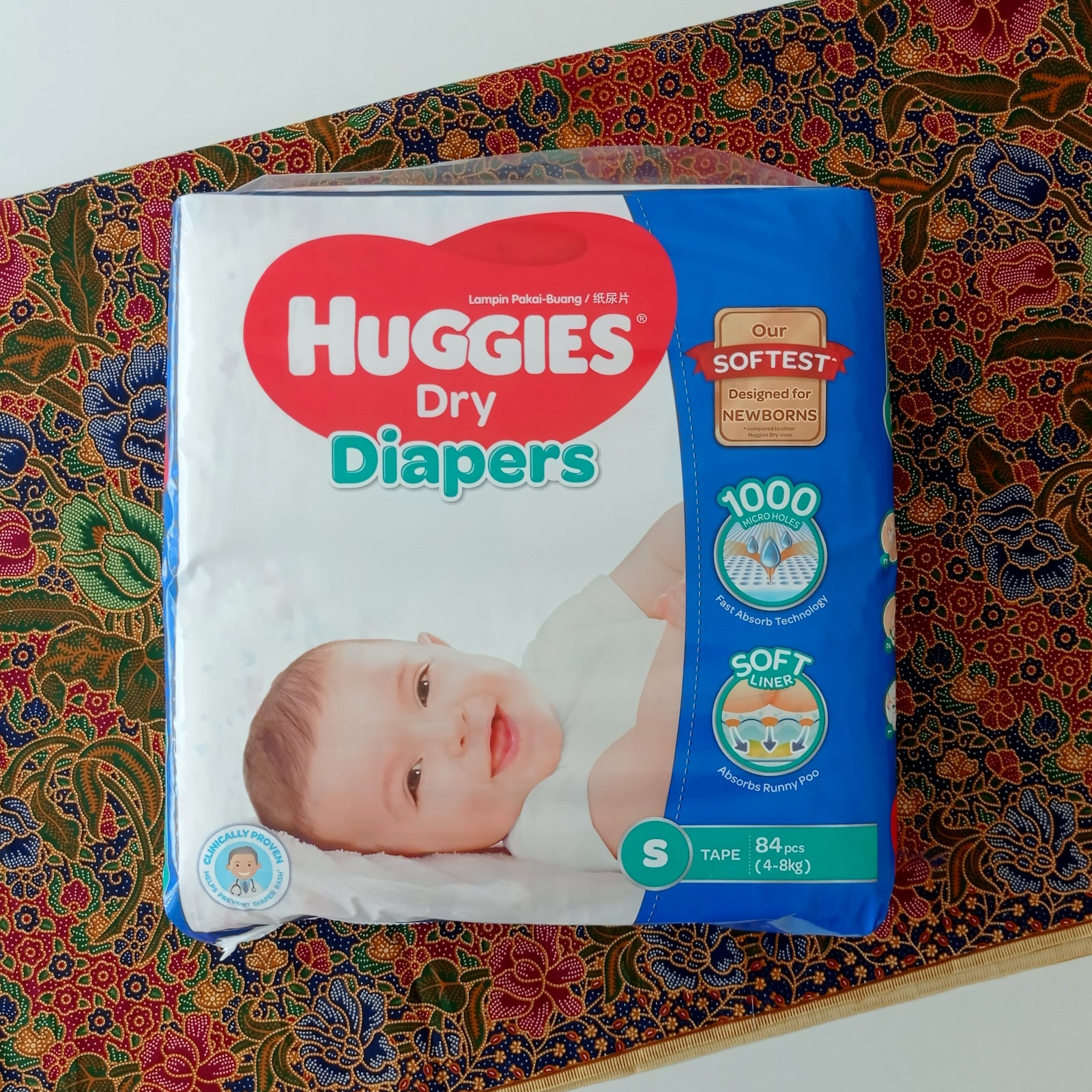 Huggies Dry Diaper Tape (Assorted)