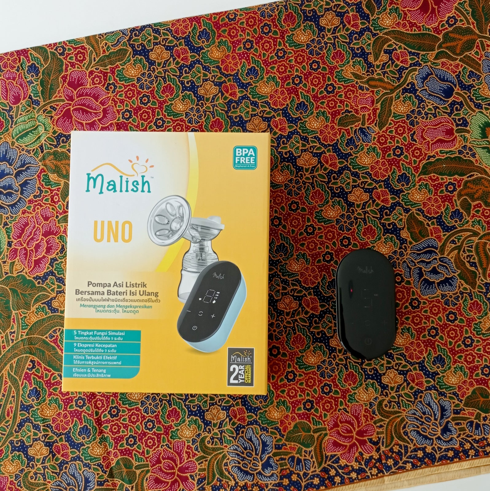 Malish Uno Rechargeable Single Breast pump + Free Gift