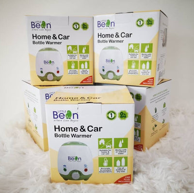 Little Bean Home & Car Bottle Warmer + FREE Treenie 3 pcs Stack & Snack Container