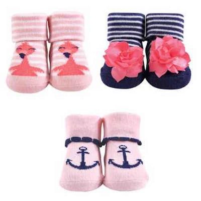 Luvable Friends 3pc Baby Socks Gift Set (Girls)