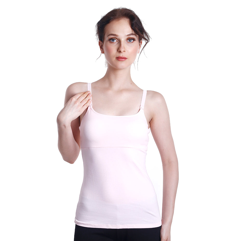 Fabulous Mom Tara Mama Padded Nursing Tank (Light Pink)