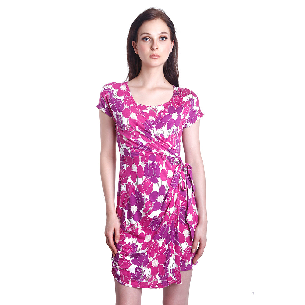 Chicky Floral Nursing Dress (Pink)