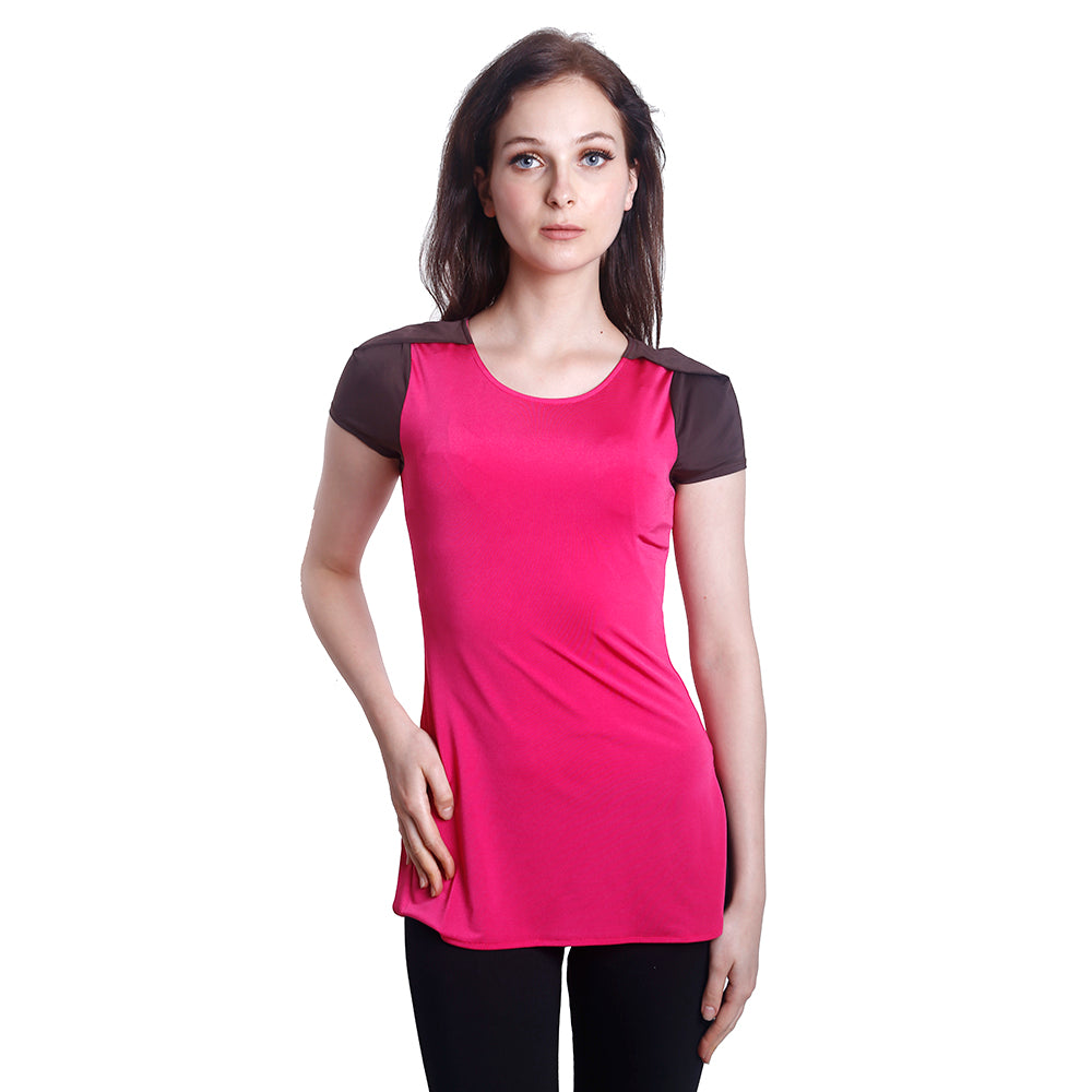 Casual Short Sleeve Tee (Pinky)