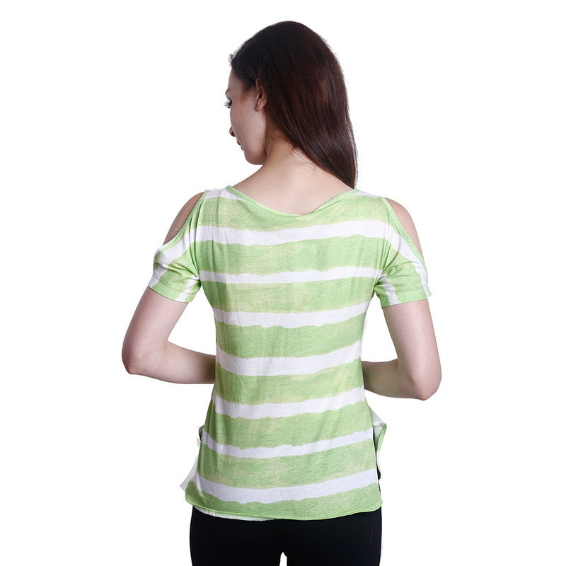 Peephole Shoulder Top (Lime)