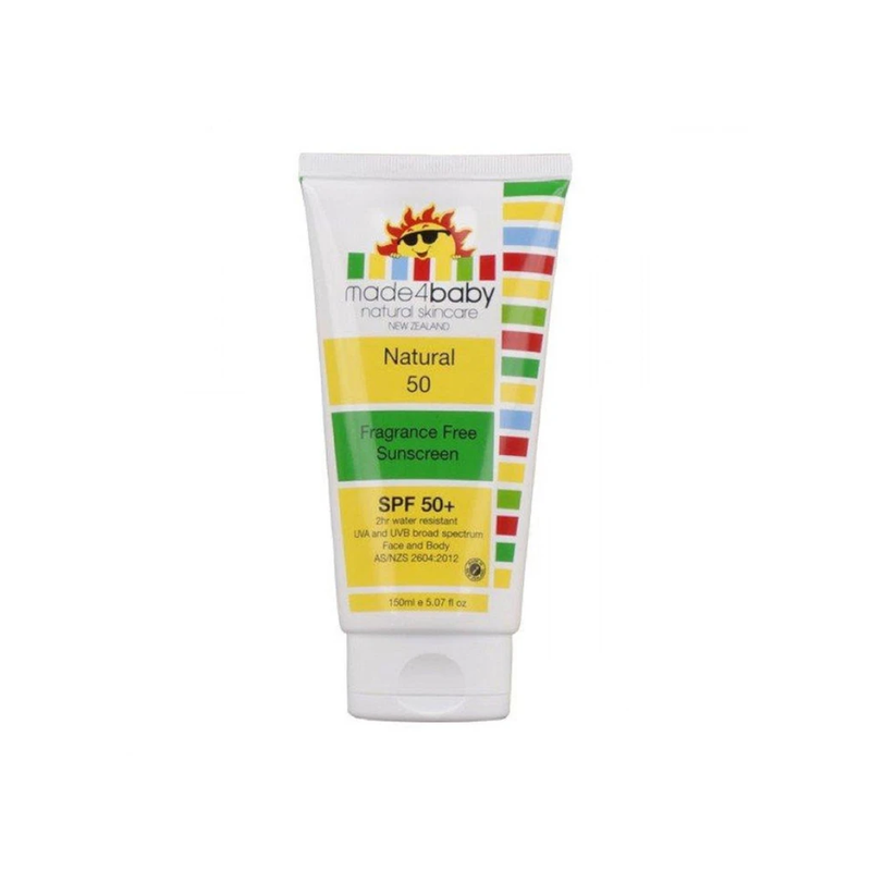 made4baby Sun Screen SPF50 150ml (Fragrance Free)