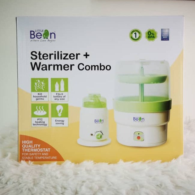 Little Bean Steriliser & Warmer Combo + 1 Year Warranty