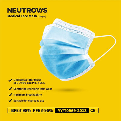 Neutrovis Medical Face Mask Adult (50pcs)
